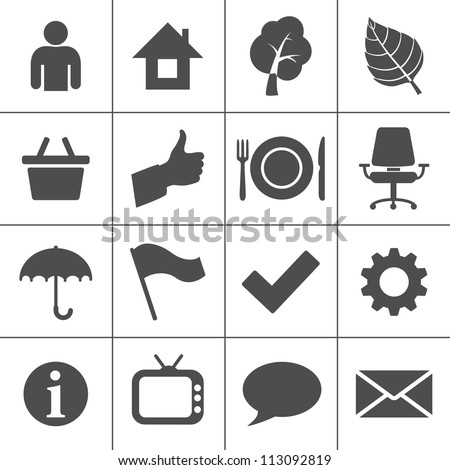 Web icons. Simplus series - Services icons - stock vector