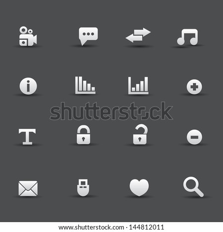 Web icons,vector - stock vector