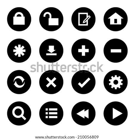 Web icons. Vector Illustration - stock vector
