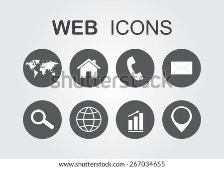 Web icons.Vector illustration. - stock vector