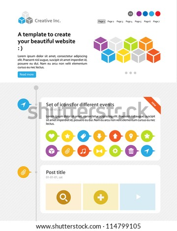 web layout elements - stock vector