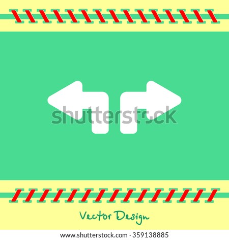 Web line icon. Arrows (up - left and up - right) - stock vector
