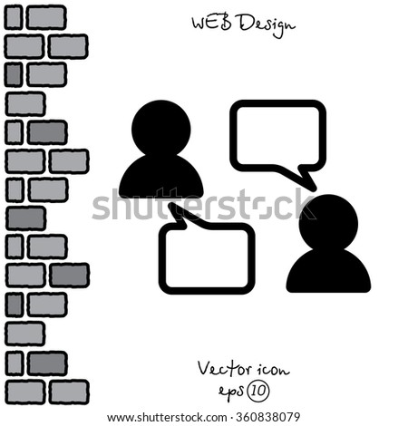 Web line icon. Business; Negotiations, dialog