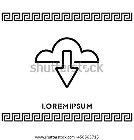 Web line icon. Cloud upload, download - stock vector