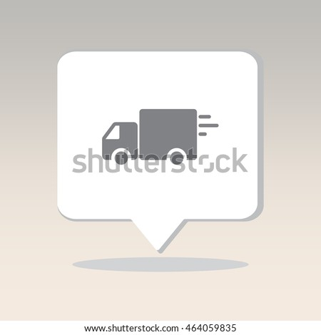 Web line icon. Delivery, truck