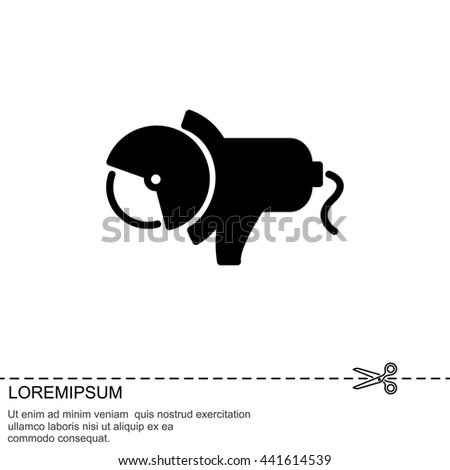 Web line icon. Electric angle grinder - stock vector