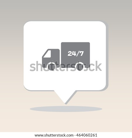 Web line icon. Hour shipping