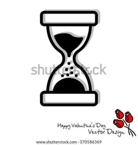 Web line icon. Hourglass - stock vector