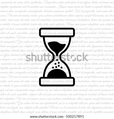 Web line icon. Hourglass