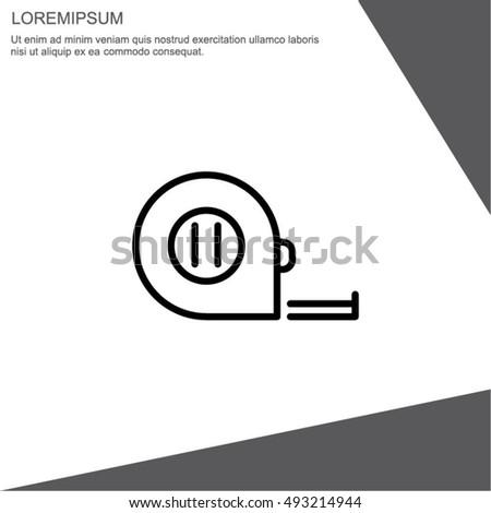 Web Line Icon Tape Measure Stock Vector 493214944 Shutterstock