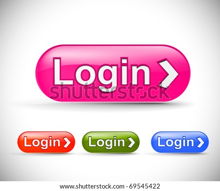 web login icon, includes four versions for your web icon. - stock vector