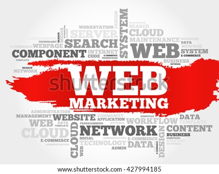 Web Marketing word cloud concept - stock vector