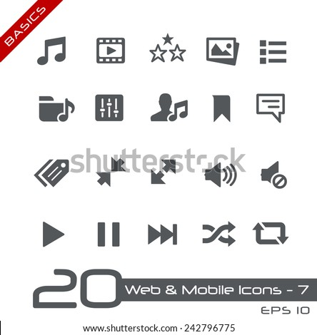 Web & Mobile Icons - 7 // Basics - stock vector