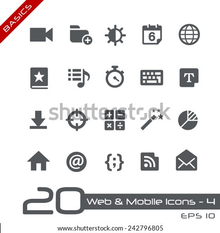 Web & Mobile Icons - 4 // Basics - stock vector