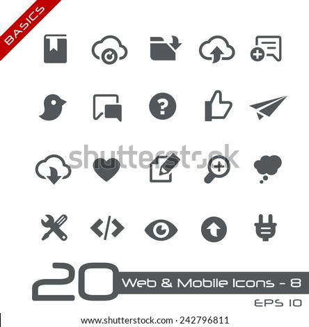 Web & Mobile Icons - 8 // Basics - stock vector