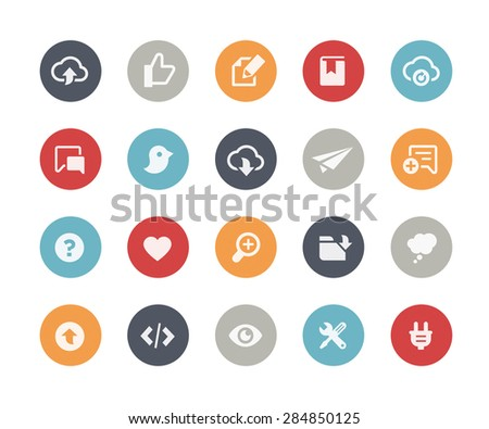 Web & Mobile Icons - 8 // Classics Series - stock vector