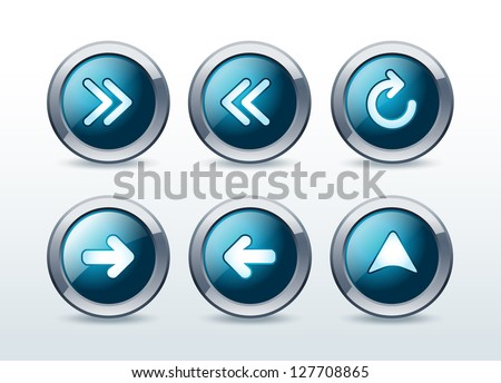 Web navigation icons set vector illustration - stock vector