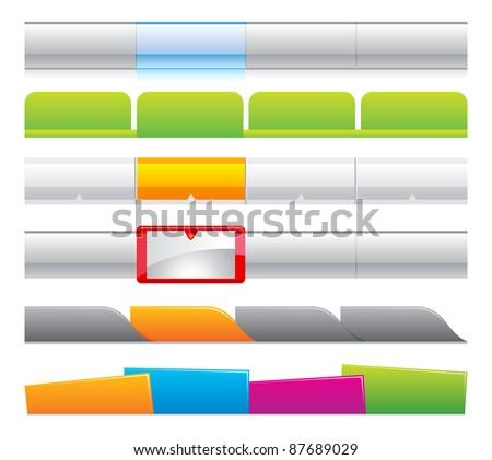 web navigation logo website page menu templates  - stock vector