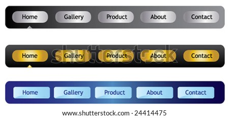 Web navigation templates. vector - stock vector