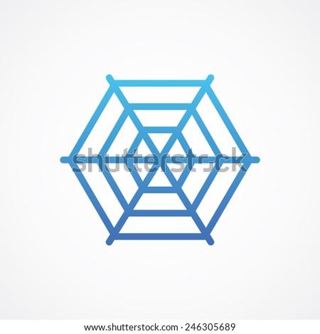 Web net spiderweb cobweb icon. Simple flat style vector illustration - stock vector