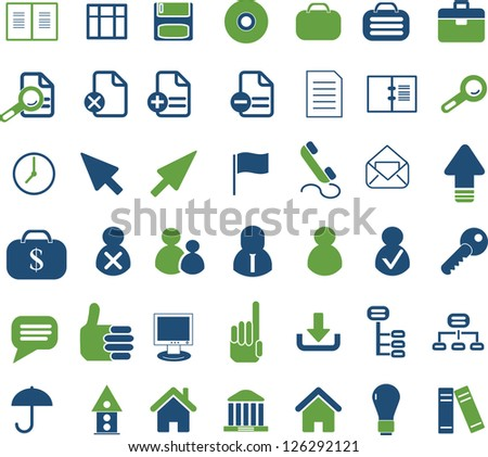 web office icons set - stock vector