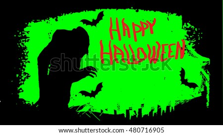 Web or TV FullHD Happy Halloween party (Graphic elements and Calligraphy)