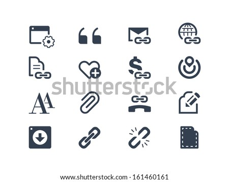 Web page and internet icons - stock vector