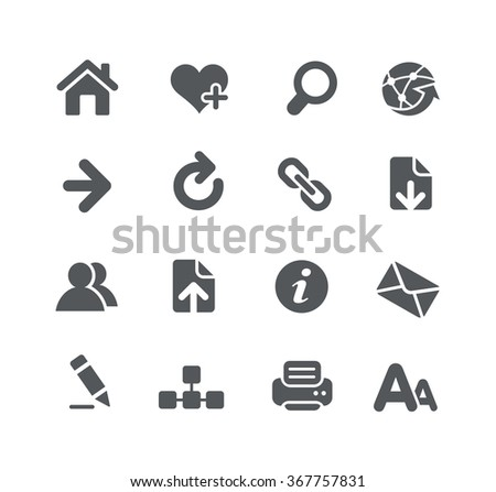 Web page browser // Utility Series - stock vector