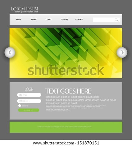 web page template - stock vector