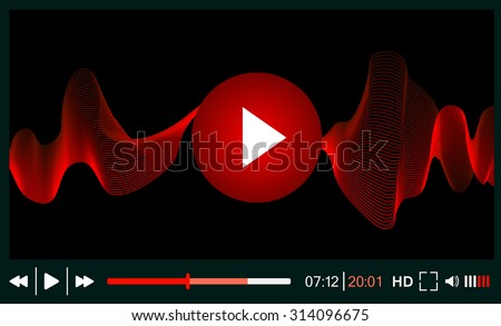 Web player  - stock vector