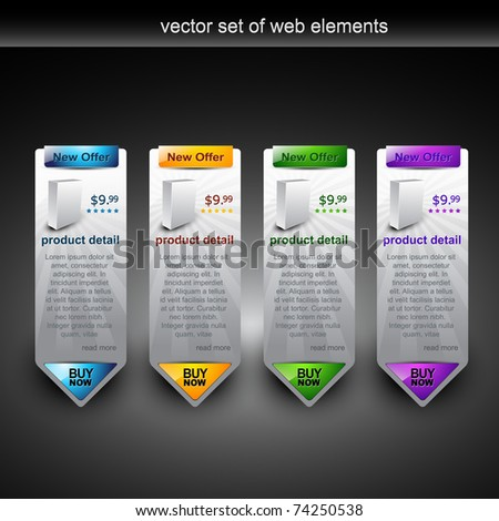 web product display item vector - stock vector