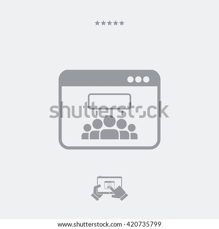 Web protest flat icon - stock vector