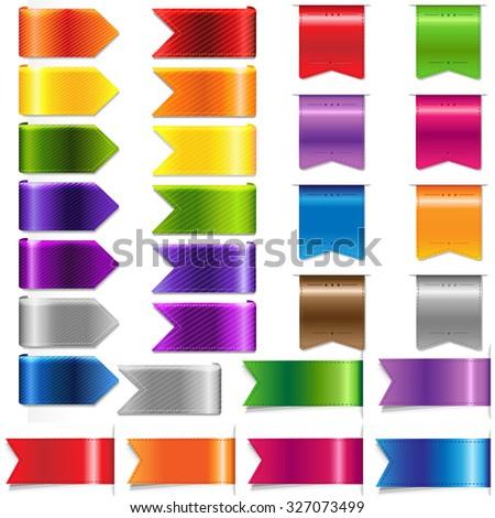 Web Ribbon Set, Vector Illustration - stock vector