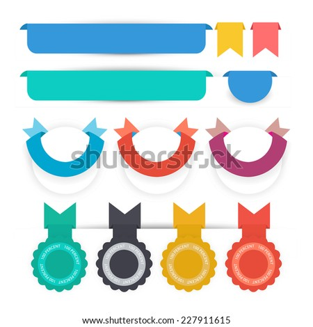 web sale badges seals banners. vector - stock vector