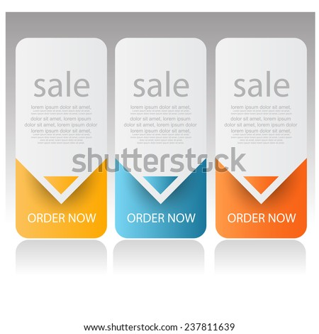 web sale banners. vector - stock vector