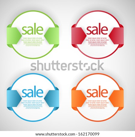 web sale element - stock vector