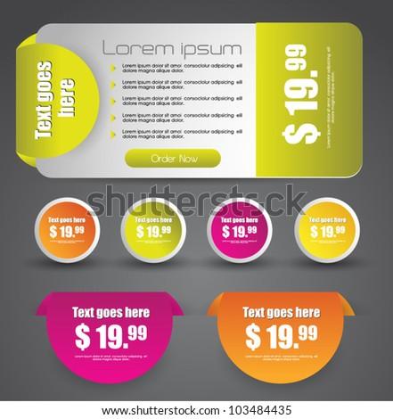 web sale elements - stock vector