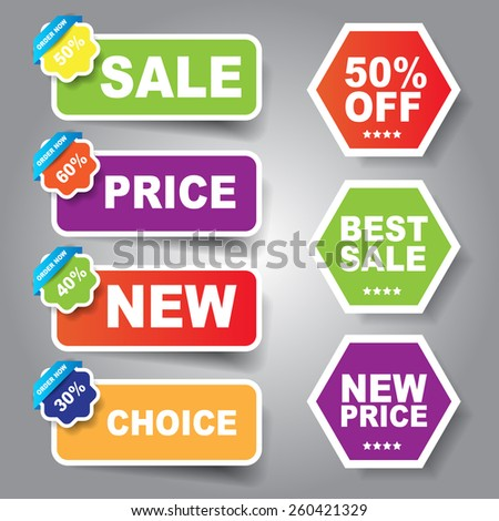 Web sale label and sticker - stock vector