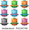 web satisfaction guarantee badges - stock vector
