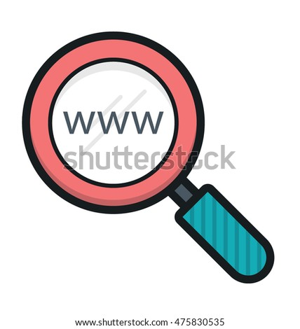 Web Search Vector Icon