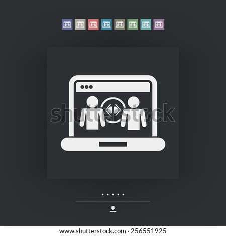 Web sharing icon - stock vector
