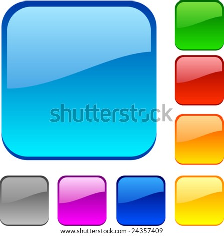 Web shiny buttons. Vector illustration. - stock vector