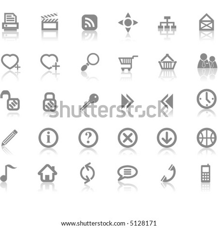 Web site and Internet icon set - stock vector