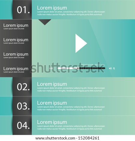 Web site design menu navigation elements. - stock vector
