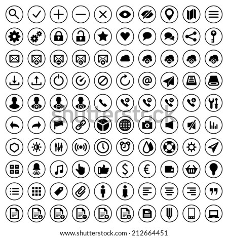 Web site icons set vector design elements for app and web design