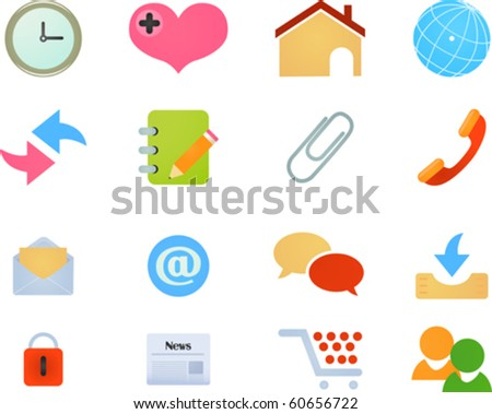 Web Site & Internet Icons - stock vector