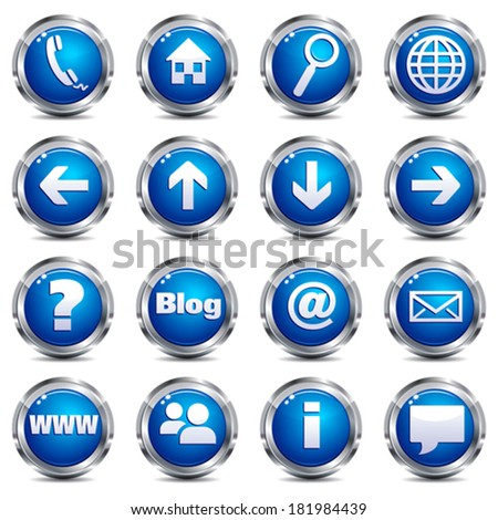 Web Site & Internet Icons - SET ONE - stock vector