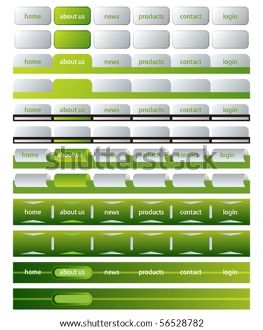 Web site template - stock vector