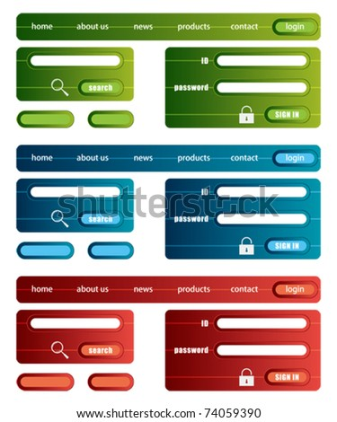 Web site template. Illustration vector.