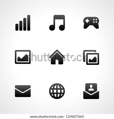 Web site vector icons set - stock vector